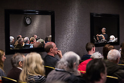 London, UK. 2nd March, 2019. Leah Levane, co-chairwoman of Jewish Voice for Labour (JVL), addresses a workshop titled 'Anti-Semitism: Re-emergence and How It's Being Fought' at the ¡No Pasaran! Confronting the Rise of the Far-Right conference at the Radisson Bloomsbury Street Hotel.