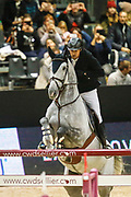 Guillaume Canet on Wouest de Cantraie Z during the Equestrian FEI World Cup Jumping Lyon 2017, CSIYH1 7 et 8 ans Prix SHF 1m35 on November 5, 2017 at Eurexpo Lyon in Chassieu, near Lyon, France - Photo Romain Biard / Isports / ProSportsImages / DPPI