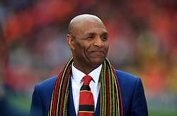 Luther Blissett pitchside during the FA Cup Final at Wembley Stadium, London.