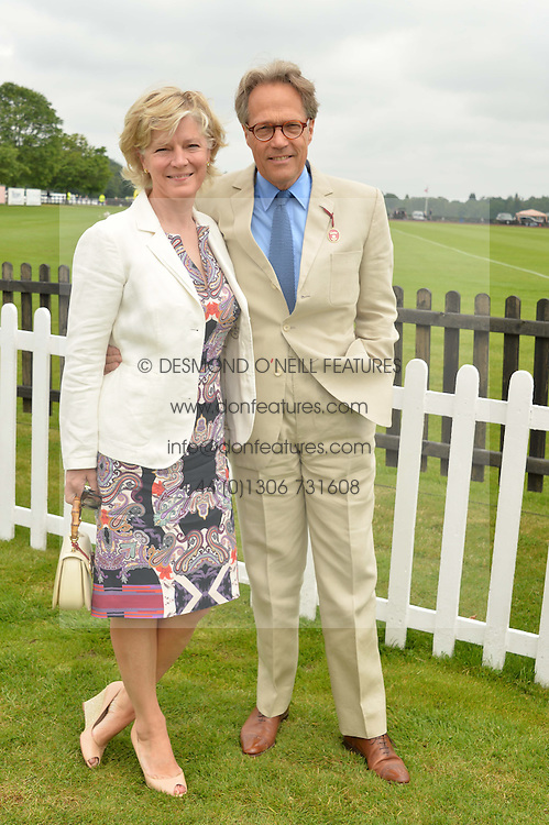 The EARL & COUNTESS OF MARCH at the Cartier Queen's Cup Polo final at Guard's Polo Club, Smiths Lawn, Windsor Great Park, Egham, Surrey on 14th June 2015