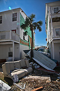 Widespread damage in Mexico Beach. Florida from Hurricane Michael.