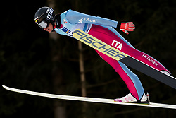 February 7, 2019 - Ljubno, Savinjska, Slovenia - Veronica Gianmoena of Italy competes on qualification day of the FIS Ski Jumping World Cup Ladies Ljubno on February 7, 2019 in Ljubno, Slovenia. (Credit Image: © Rok Rakun/Pacific Press via ZUMA Wire)