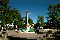 New Mexico: Santa Fe, Town Plaza,  Photo: nmarts105.Photo copyright Lee Foster, www.fostertravel.com, 510/549-2202, lee@fostertravel.com