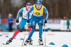 SPITCYN Filipp Guide: BASIUK Zhorzh, RUS at the 2014 IPC Nordic Skiing World Cup Finals - Sprint
