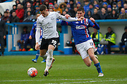 Everton midfielder Ross Barkley  scores the third goal of the game during the The FA Cup fourth round match between Carlisle United and Everton at Brunton Park, Carlisle, England on 31 January 2016. Photo by Craig McAllister.