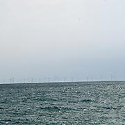 UK weather: Brighton Wind Farm in UK on July 27 2018.