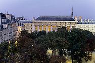 France.Paris. 1st district elevated view. place Dauphine, on city island  Paris  France