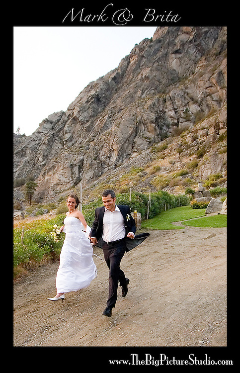 Mark Devereux and Brita Cloghesy's wedding day, Sept 9, 2006. <br /> Ceremony and portraits at the Bear Cub Vineyard, ~10km north of Osoyoos. East on rd 22 off of Hwy 97.