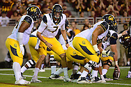 TEMPE, AZ - SEPTEMBER 24:  Quarterback Davis Webb #7 of the California Golden Bears calls a play in the game against the Arizona State Sun Devils at Sun Devil Stadium on September 24, 2016 in Tempe, Arizona. The Sun Devils won 51-41.  (Photo by Jennifer Stewart/Getty Images)