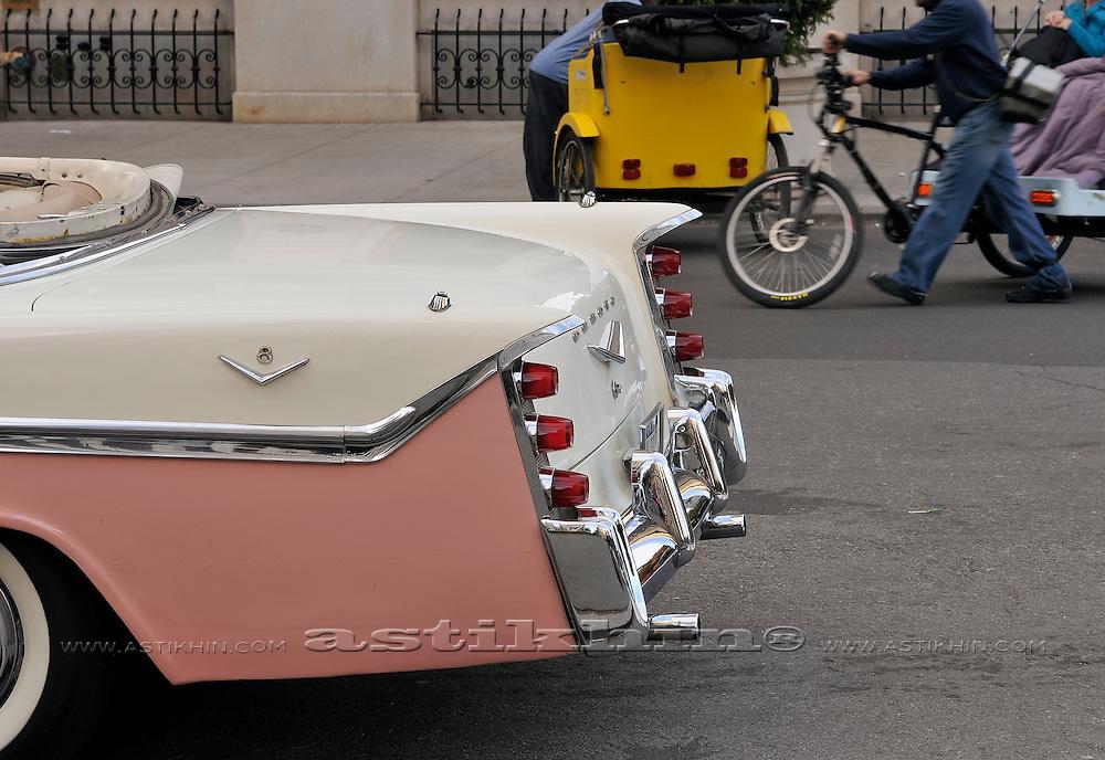 Back of vintage car.