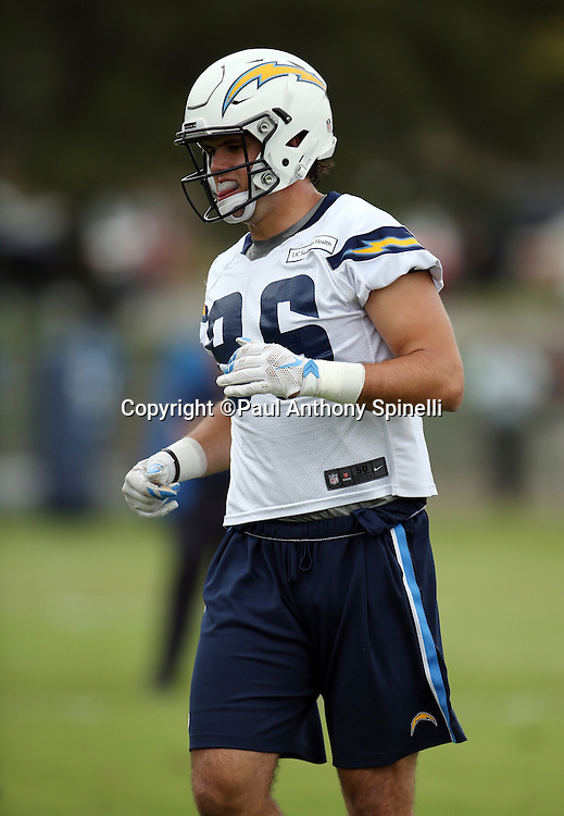 San Diego Chargers rookie tight end Hunter Henry (86) looks on during the Chargers 2016 NFL minicamp football practice held on Tuesday, June 14, 2016 in San Diego. (©Paul Anthony Spinelli)