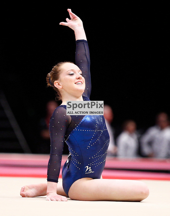 2015 Artistic Gymnastics World Championships being held in Glasgow from 23rd October to 1st November 2015...Amy Tinkler (Great Britain) competing in the Floor Exercise competition of the Women's Team Final...(c) STEPHEN LAWSON | SportPix.org.uk