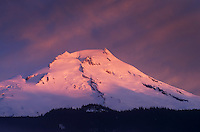 Sunrise over Mount Baker (elevation 10,778 feet (3,285 m), North Cascades Washington
