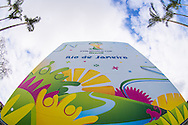 General signage outside the stadium before the 2014 FIFA World Cup match at Maracana Stadium, Rio de Janeiro, Brazil. <br /> Picture by Andrew Tobin/Focus Images Ltd +44 7710 761829<br /> 22/06/2014