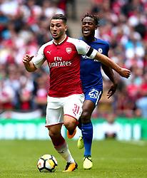 Sead Kolasinac of Arsenal goes past Michy Batshuayi of Chelsea - Mandatory by-line: Robbie Stephenson/JMP - 06/08/2017 - FOOTBALL - Wembley Stadium - London, England - Arsenal v Chelsea - FA Community Shield