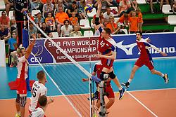 20170525 NED: 2018 FIVB Volleyball World Championship qualification, Koog aan de Zaan<br />Chris Zuidberg (14) of Luxembourg<br />©2017-FotoHoogendoorn.nl / Pim Waslander