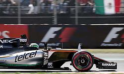 October 29, 2016 - Mexico - EUM20161029DEP17.JPG .CIUDAD DE MÉXICO MotoringAutomovilismo-F1.- El piloto mexicano de la escudería Force India, Sergio Pérez, Checo, en la en la carrera de clasificación del Gran Premio de México de la Fórmula 1, 29 de octubre de 2016, Autódromo Hermanos Rodríguez. Foto: Agencia EL UNIVERSALAlejandro AcostaJMA (Credit Image: © El Universal via ZUMA Wire)
