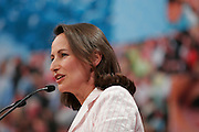 Segolene Royal, the socialist party candidate for this year's presidential election speaking at a political meeting at the Zenith de Rouen in Grand-Quevilly, Seine Maritime, France, saturday, February 24, 2007. <br /> Client: Bloomberg News