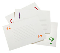 punctuation mark index cards