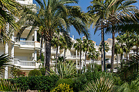 Las Dunas Park Hotel, between Marbella and Estepona, Spain. This is the rear view of the hotel which faces the Mediterranean. February, 2020, 202002162221<br />