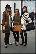 TATIANA OJJAY; SIRINE OJJEY; DARA HUANG, Opening of Frieze art Fair. London. 14 October 2014