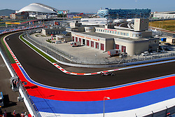 10.10.2014, Sochi Autodrom, Sotschi, RUS, FIA, Formel 1, Grosser Preis von Russland, Training, im Bild Daniil Kvyat (RUS) Scuderia Toro Rosso STR9. // during the Practice of the FIA Formula 1 Russia Grand Prix at the Sochi Autodrom in Sotschi, Russia on 2014/10/10. EXPA Pictures © 2014, PhotoCredit: EXPA/ Sutton Images/ Martini<br /> <br /> *****ATTENTION - for AUT, SLO, CRO, SRB, BIH, MAZ only*****