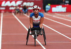 July 22, 2018 - London, United Kingdom - Hannah Cockroft of  Great Britain and Northern Ireland after winning and World Record during T34 100m Women during the Muller Anniversary Games IAAF Diamond League Day Two at The London Stadium on July 22, 2018 in London, England. (Credit Image: © Action Foto Sport/NurPhoto via ZUMA Press)