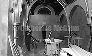 """1998:  The interior of the Limelight nightclub located in the former """"Episcopal Church of the Holy Communion"""" on Sixth Avenue in New York City undergoing renovations."""