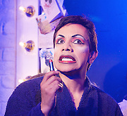 Torch Song Trilogy <br /> by Harvey Fierstein<br /> at The Menier Chocolate Factory, London, Great Britain <br /> <br /> Press photocall<br /> 11th June 2012 <br /> <br /> David Badella as Arnold Beckoff<br /> <br /> Joe McFadden as Ed<br /> <br /> Sara Kestelman as Mrs Beckoff<br /> <br /> Tom Harries as Alan<br /> <br /> Perry Millward as David<br /> <br /> Laura Pyper as Laurel<br /> <br /> <br /> designed by Soutra Gilmour <br /> Lighting by Paul Anderson <br /> Sound by Gareth Owen <br /> Musical supervisor Catherine Jayes<br /> <br /> <br /> Photograph by Elliott Franks
