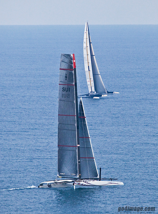 BMW Oracle wins the America's Cup<br /> Race2<br /> 2010 America's Cup, Valencia<br /> &copy;2010 Kaufmann/Forster go4image.com