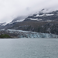 Lamplugh Glacier flowing from Mt. Cooper, on the Johns Hopkins Inlet. Glacier Bay National Park, Alaska