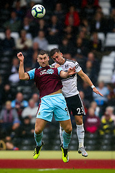 Joe Bryan of Fulham challenges Sam Vokes of Burnley - Mandatory by-line: Robbie Stephenson/JMP - 26/08/2018 - FOOTBALL - Craven Cottage - Fulham, England - Fulham v Burnley - Premier League