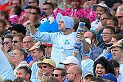 A fan wearing baby fancy dress during the International Test Match 2019 match between England and Australia at Edgbaston, Birmingham, United Kingdom on 3 August 2019.