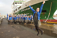 05/12/2013  Ciara MacDonald from Scoil Mhuire Oranmore Galway who won a tour of the Marine Institute's Flagship research vessel The Celtic Explorer for her classmates with a poem she wrote. Photo:Andrew Downes.