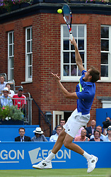 June 23, 2017 - London, United Kingdom - Daniil Medvedev (RUS) against Grigor Dimitrov ( BUL) during Men's Singles Quarter Final match on the fourth day of the ATP Aegon Championships at the Queen's Club in west London on June 23, 2017  (Credit Image: © Kieran Galvin/NurPhoto via ZUMA Press)