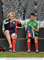 3 July 2013; Richie Gray, left, and Conor Murray, British & Irish Lions, during squad training ahead of their 3rd test match against Australia on Saturday. British & Irish Lions Tour 2013, Squad Training. Noosa Dolphins RFC, Dolphin Oval, Sunshine Beach, Queensland, Australia. Picture credit: Stephen McCarthy / SPORTSFILE