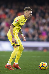 December 23, 2017 - Valencia, Spain - Samu Castillejo during the match between Valencia CF against Villarreal CF , week 17 of  La Liga 2017/18 at Mestalla stadium, Valencia, SPAIN - 17th December of 2017. (Credit Image: © Jose Breton/NurPhoto via ZUMA Press)