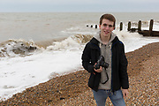 Film student on location on 30th April 2017, at Winchelsea, England