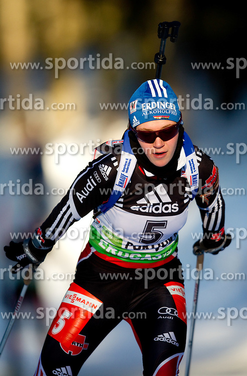 Miriam Goessner of Germany during the Women 15 km Individual of the e.on IBU Biathlon World Cup on Thursday, December 16, 2010 in Pokljuka, Slovenia. The fourth e.on IBU World Cup stage is taking place in Rudno Polje - Pokljuka, Slovenia until Sunday December 19, 2010.  (Photo By Vid Ponikvar / Sportida.com)