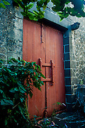 Door to a private home in Port Louis.