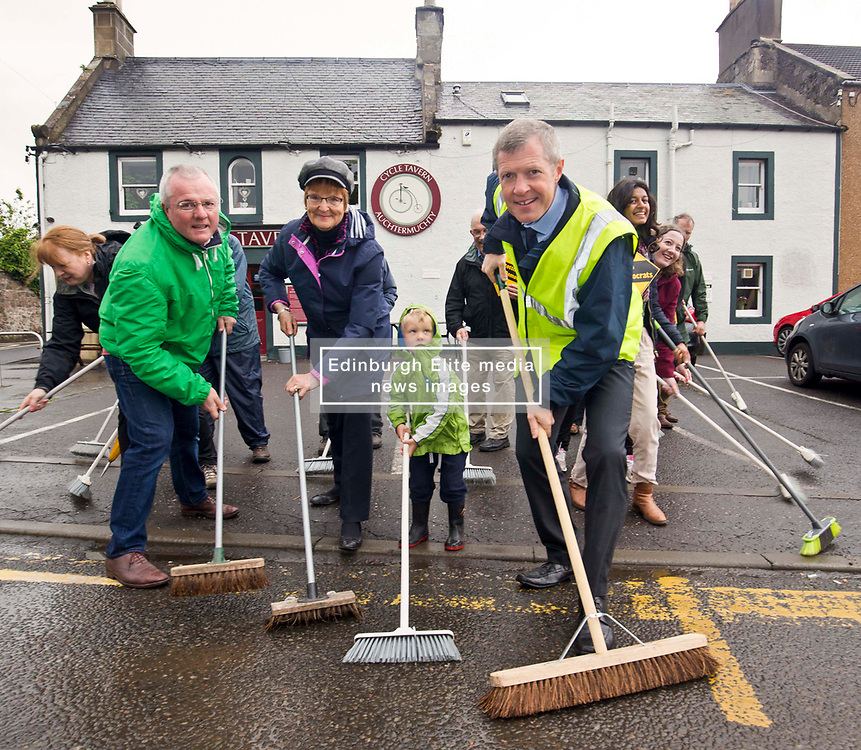 Pictured: Scottish Liberal Democrat leader Willie Rennie MSP in Auchtermuchty to illustrate that it is the Liberal Democrats that are set to sweep the SNP out of seats across Scotland.<br /> <br /> <br /> <br /> Michael Schofield   EEm 5/6/2017
