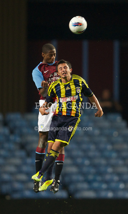 BIRMINGHAM, ENGLAND - Wednesday, September 28, 2011: Aston Villa's Janoi Donacien in action against Fenerbahce SK during the NextGen Series Group 3 match at Villa Park. (Pic by David Rawcliffe/Propaganda)