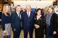 Johanna Clancy, Chair SCCUL Board, Michael Smyth, , Celebrity Judge Gavin Duffy, Phil Grealish, Board member and Aisling Conroy, Board member at the The SCCUL Entreprise awards and Business Expo in the Bailey Allen Hall in NUIG. Photo:Andrew Downes, xposure