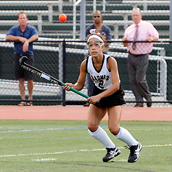 Radnor's Tara Lewandowski (2) watches a high shot come down the field during the Radnor at Ridley field hockey game, Thursday afternoon September 11, 2014. (Times staff / TOM KELLY IV)