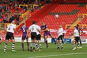Danny Wright scores his goal during the Vanarama National League match between Gateshead and Cheltenham Town at Gateshead International Stadium, Gateshead, United Kingdom on 10 October 2015. Photo by Antony Thompson.