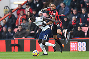 Davinson Sanchez (6) of Tottenham Hotspur battles for possession with Callum Wilson (13) of AFC Bournemouth during the Premier League match between Bournemouth and Tottenham Hotspur at the Vitality Stadium, Bournemouth, England on 11 March 2018. Picture by Graham Hunt.
