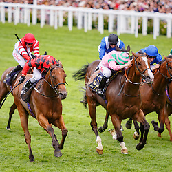 Snoano (D. Allan) (red cap with black diamonds) wins The Wolferton Handicap Stakes (Listed), Royal Ascot 24/06/2017, photo: Zuzanna Lupa / Racingfotos.com
