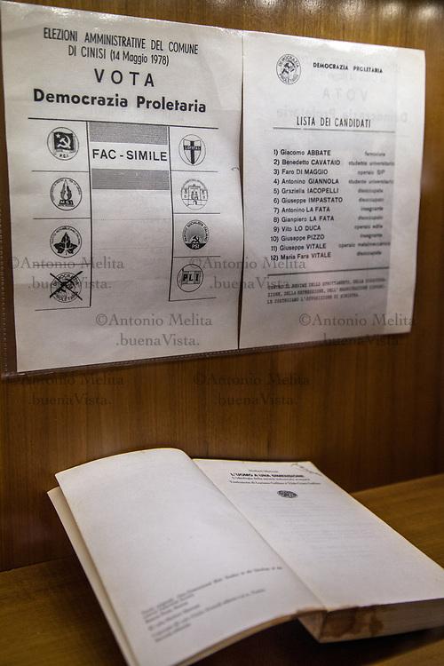 Il volantino elettorale di Peppino Impastato nella lista Democrazia Proletaria.
