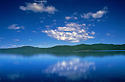 CLouds reflected in Canim lake<br /> Canim Lake<br /> British Columbia<br /> Canada