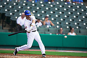 July 19, 2017 Sugarland, Texas: Sugarland Skeeters centerfielder Cole Gillespie(11) concentrates on a hard swing in a 3-1 lost against the Lancaster Barnstormers. (Photo By: Jerome Hicks/ Space City Images)